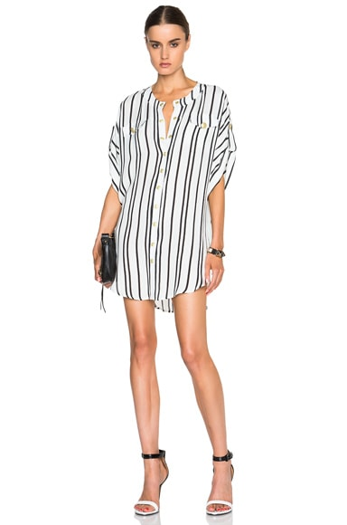 Striped Button Up Dress