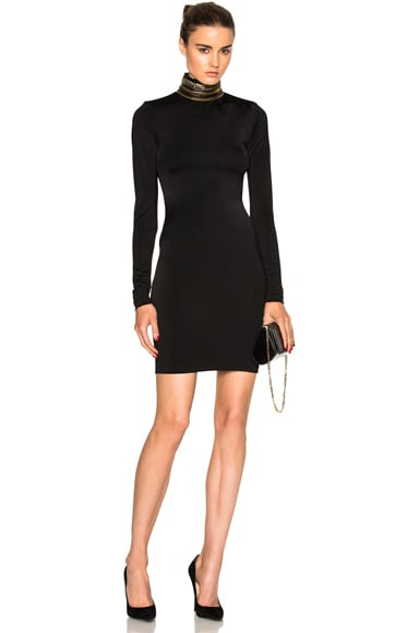 Coiled Turtleneck Dress