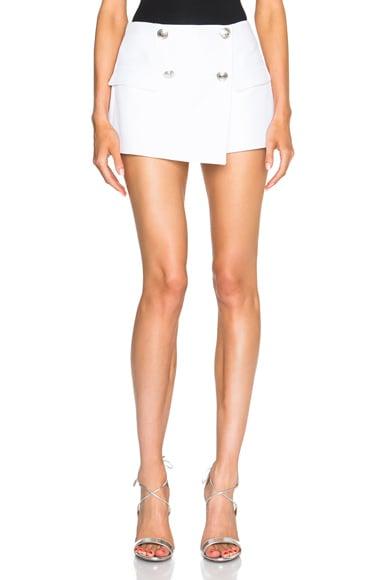 Pierre Balmain Button Mini Shorts in Off White