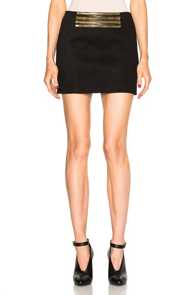 Pierre Balmain Mini Skirt in Black