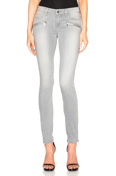 Paige Denim Jill Zip Ultra Skinny in Dove Grey No Whiskers & Silver