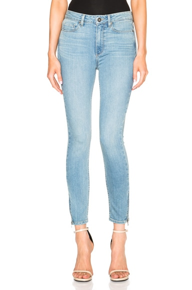 Paige Denim Hoxton Ankle Zip in Addy