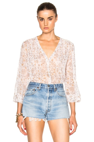 Paige Denim Nora Top in Deep Cider & Orchid