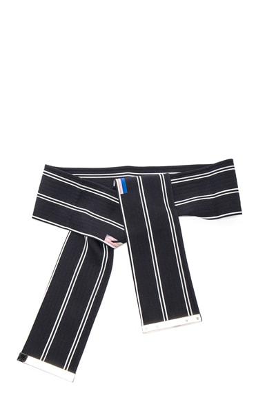 Preen by Thornton Bregazzi Wide Belt in Black Stripe