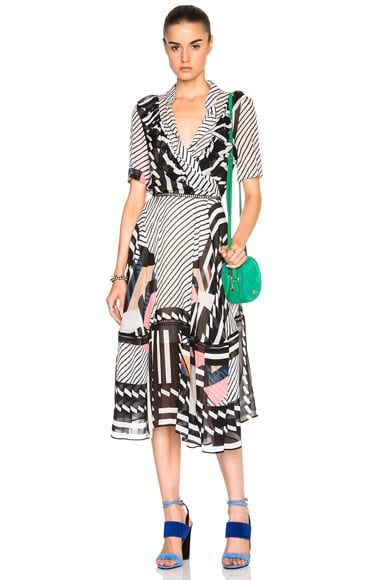 Preen by Thornton Bregazzi Samuel Dress in Black & White Boxes