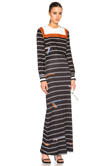Preen by Thornton Bregazzi Reda Dress in Black Stripe