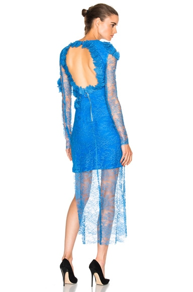 Preen by Thornton Bregazzi Pelli Dress in Blue