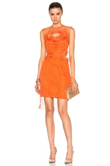 Preen by Thornton Bregazzi Hadid Dress in Orange