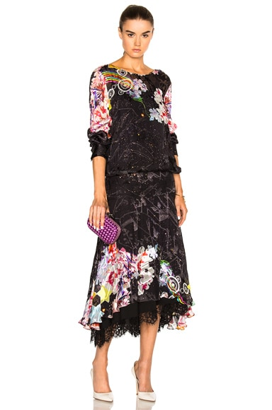 Preen by Thornton Bregazzi Abigail Lace Hem Dress in Rainbow