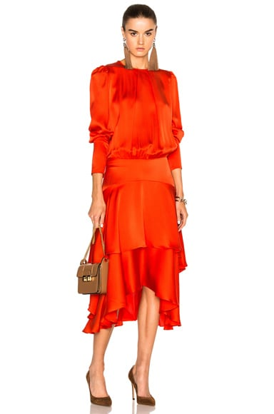 Preen by Thornton Bregazzi Annabelle Dress in Red