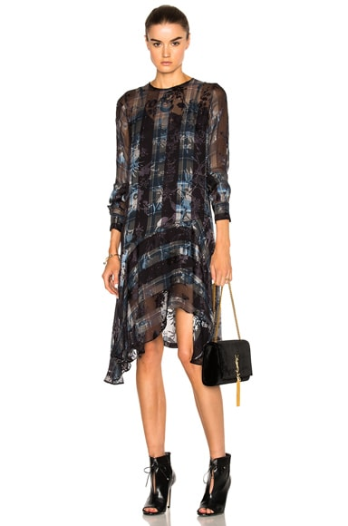 Preen by Thornton Bregazzi Farrow Dress in Grey Check