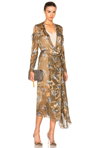 Preen by Thornton Bregazzi A Hayett Dress in Gold Constellation
