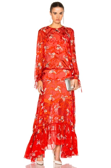 Preen by Thornton Bregazzi Bochert Dress in Red Constellation
