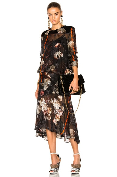 Preen by Thornton Bregazzi Poem Dress in Painted Floral