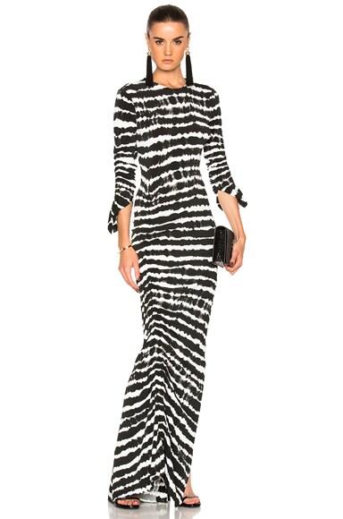 Preen by Thornton Bregazzi Philomena Dress in Black Tie Dye
