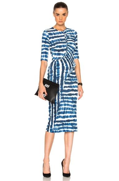 Preen by Thornton Bregazzi Marlena Dress in Blue Tie Dye