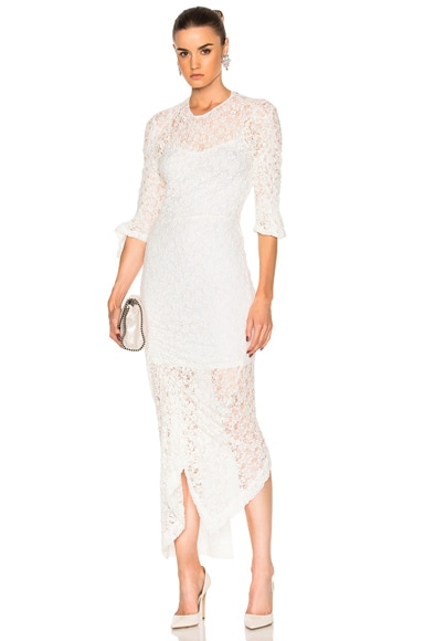 Preen by Thornton Bregazzi Piper Dress in Ivory