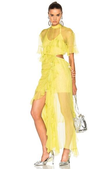 Preen by Thornton Bregazzi Azura Dress in Yellow
