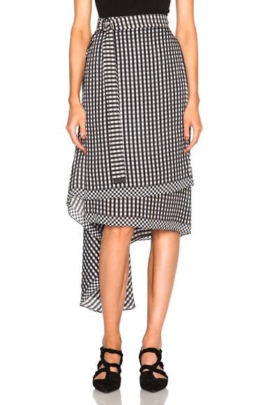 Preen by Thornton Bregazzi Lea Skirt in Black Gingham