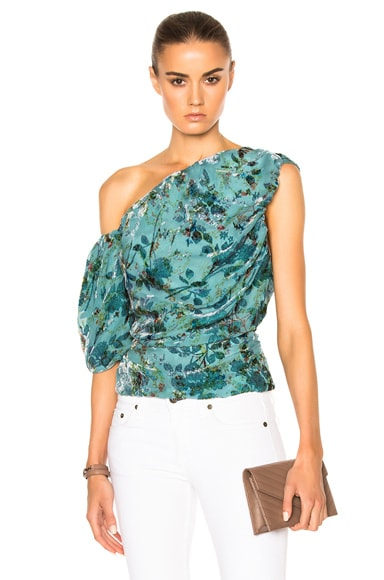Preen by Thornton Bregazzi Scarlet Top in Flower Ring Blue