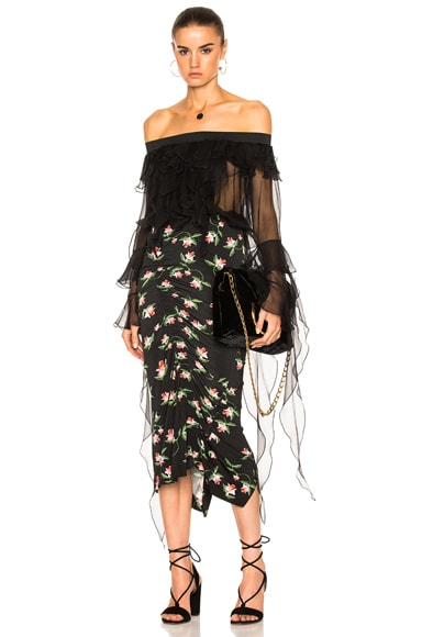 Preen by Thornton Bregazzi Daisy Top in Black