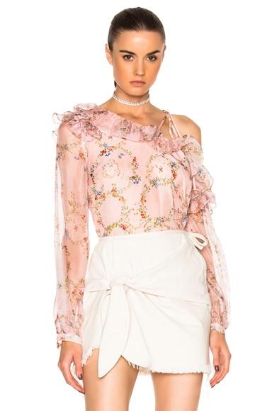 Preen by Thornton Bregazzi Daralis Top in Flower Ring Pink