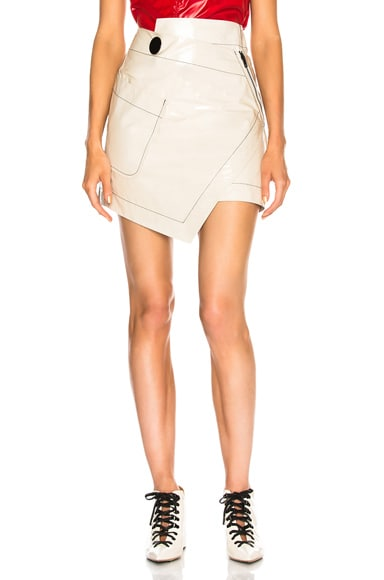 for FWRD Rooney Leather Wrap Skirt