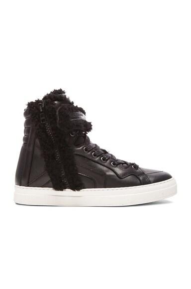 Les Baskets Nappa & Shearling Sneakers