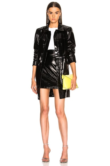 Patent Leather High Waisted Skirt