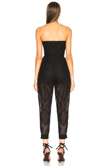 Strapless Belted Waist Jumpsuit