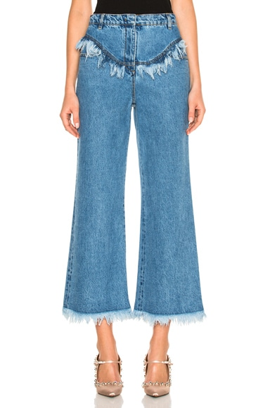 Philosophy di Lorenzo Serafini Frayed Crop in Blue