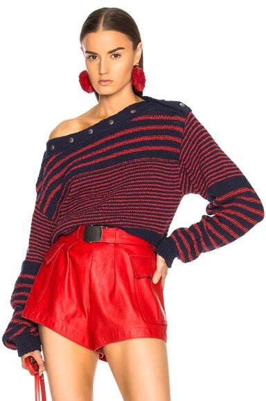 Adjustable Neck Sweater