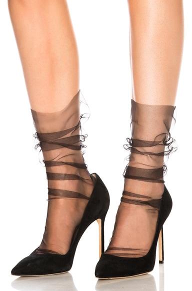 Superfine Italian Nylon Tulle Socks