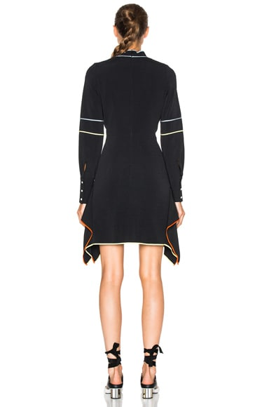 Cady Embroidered Mini Tie Dress
