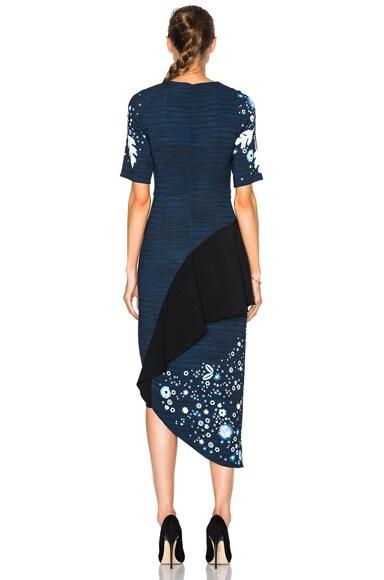 Printed Cady Pencil Dress