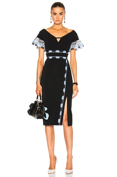 Peter Pilotto Cady Lace Band Dress in Black