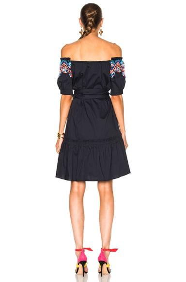 Paneled Cotton Lace Dress