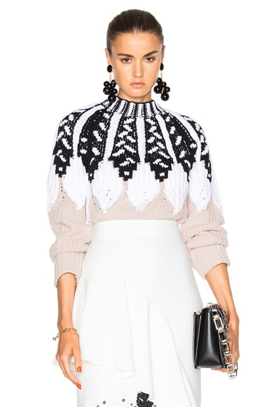 Peter Pilotto Intarsia Knit Jumper in Sand