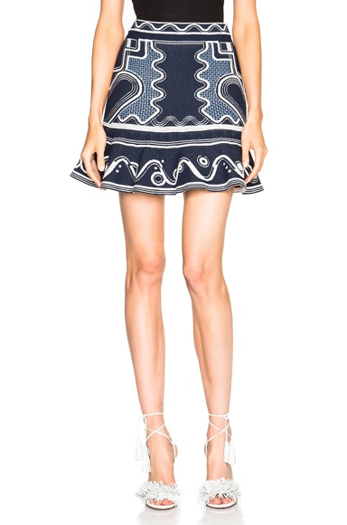 Peter Pilotto Lito Knit Skirt in Navy