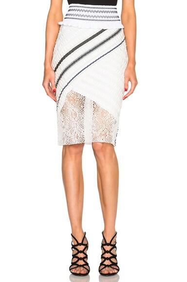 Peter Pilotto Asteri Skirt in J Stripe White