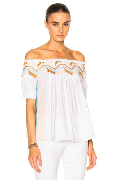 Peter Pilotto Paneled Cotton Top in White
