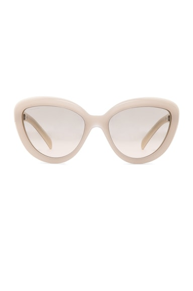 Prada Rounded Cat Eye Sunglasses in Ivory