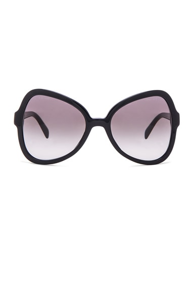 Prada Oversized Cat Eye Sunglasses in Black