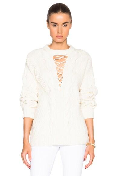 Prabal Gurung Wool Cashmere Sweater in Magnolia