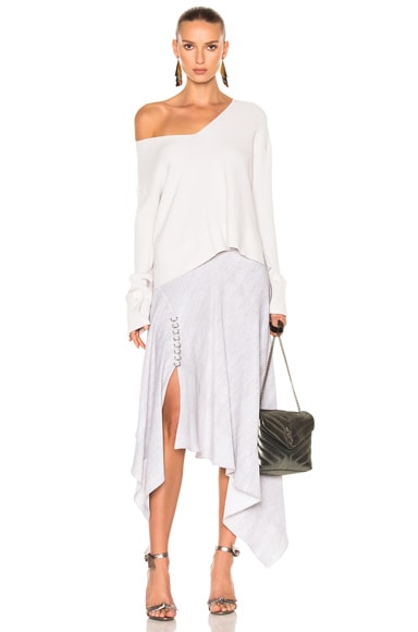 Print Cady Handkerchief Hem Skirt
