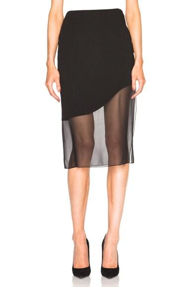 Prabal Gurung Crepe Skirt in Black
