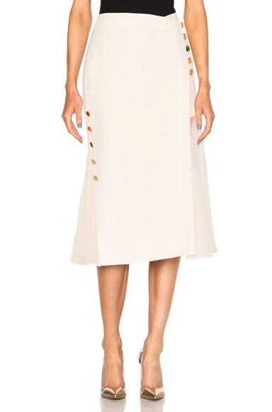 Crepe Crossover Chiffon Insert Skirt