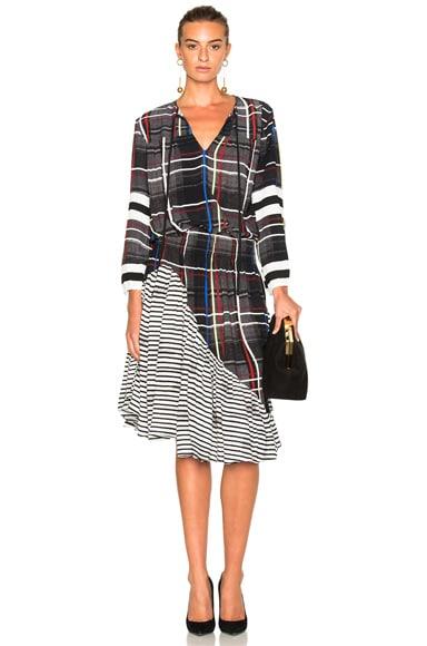 Preen Line Etta Dress in Multi Check & Stripe