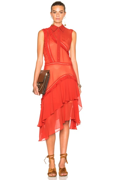 Preen Line Greta Dress in Red