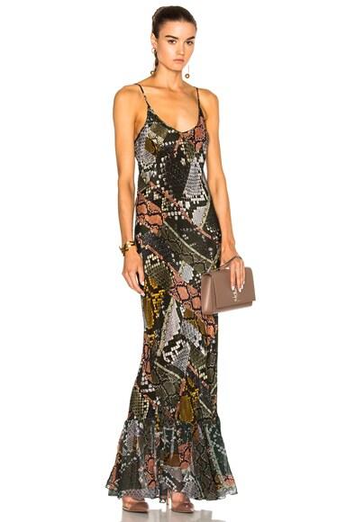 Preen Line Luna Slip Dress in Snake